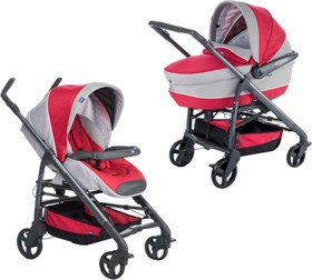 Chicco Trio Love Motion Bebek Arabası Red Passion
